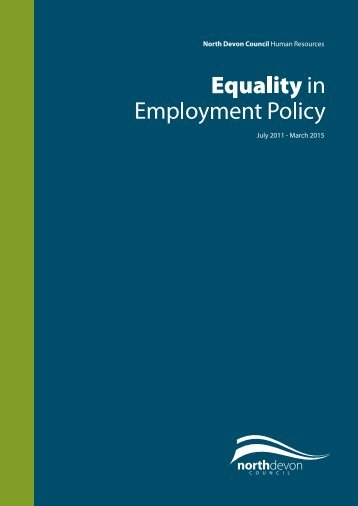 Equality in Employment Policy - North Devon District Council