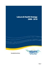 Leisure and Health Strategy - North Devon District Council