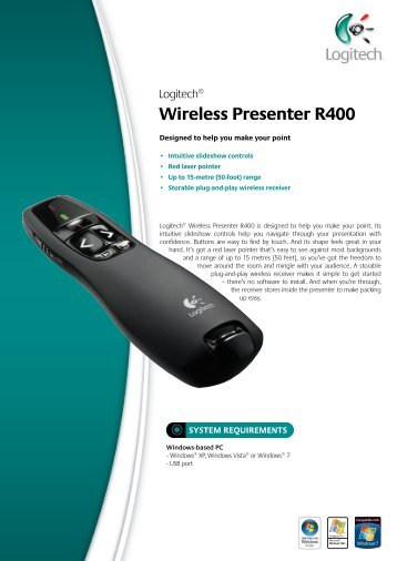 Logitech® Wireless Presenter R400 - ACME
