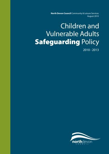 Children and Vulnerable Adults Safeguarding Policy - North Devon ...