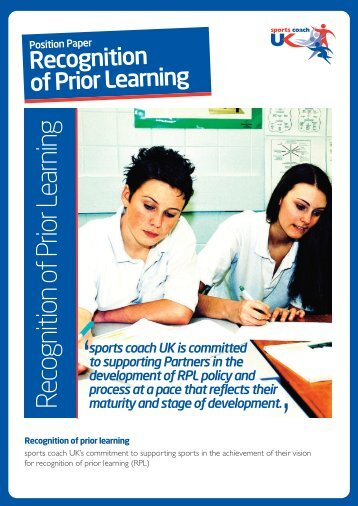 Recognition of Prior Learning - sports coach UK