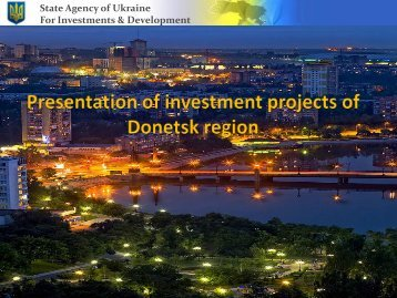 Donetsk Region Investment Projects
