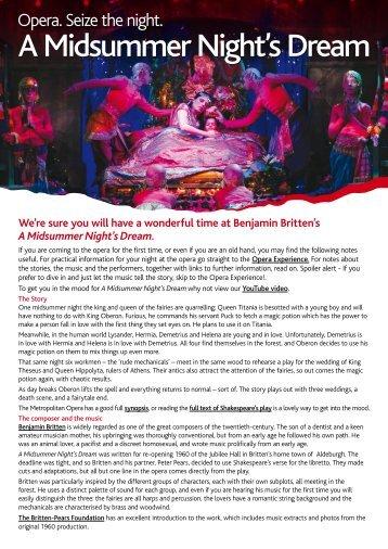 A Midsummer Night's Dream - Opera Australia