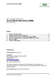 Deutsches Institut für Marketing - Studie Social Media Marketing ...