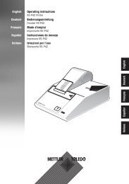 Operating instructions RS-P42 Printer ... - Mettler Toledo
