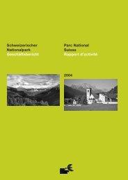 Geschäftsbericht 2004 - Schweizerischer Nationalpark