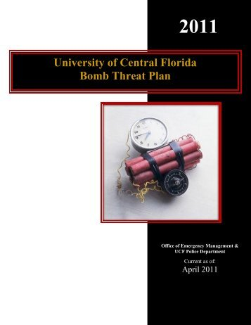 University of Central Florida Bomb Threat Plan - UCF Facilities and ...