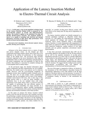 Application of the Latency Insertion Method to Electro ... - IEEE Xplore