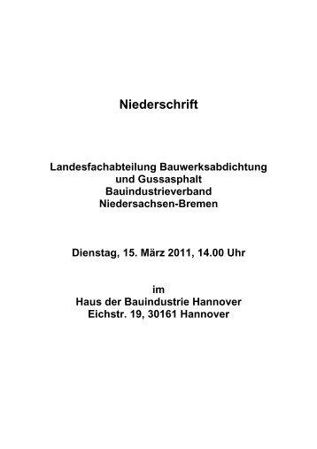 Niederschrift LFA Bauwerksabdichtung und Gussasphalt vom 15 ...