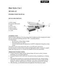 English_ Hair Styler 2 in 1 SP-1101-AV - Sapirhome