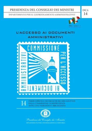 Volume 14 - Commissione per l'accesso ai documenti amministrativi
