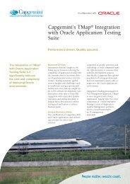Capgemini's TMap® Integration with Oracle Application Testing Suite