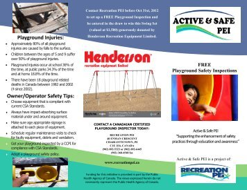 Playground Safety Inspections Brochure - Recreation PEI