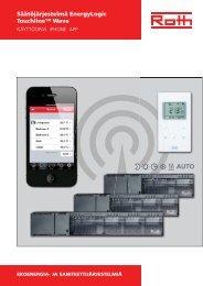 Touchline, käyttöopas iPhone app - Roth