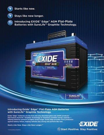 EXIDE ® Edge ™ Flat Plate AGM Battery - Exide Technologies