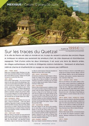 Sur les traces du Quetzal - Verdié Voyages