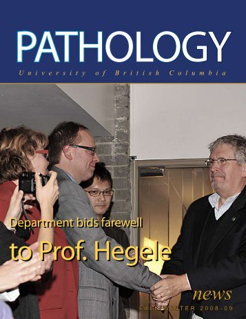 Department bids farewell - Pathology and Laboratory Medicine