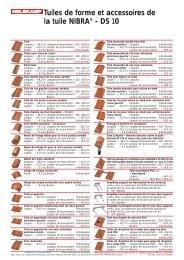 Tuiles de forme et accessoires de la tuile NIBRA® - DS 10 - Nelskamp