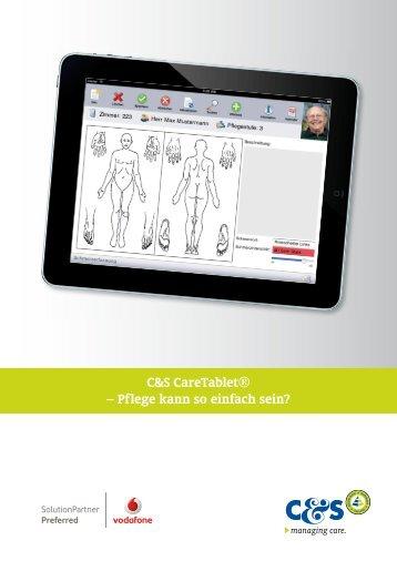 Prospekt CareTablet - C&S Computer und Software GmbH