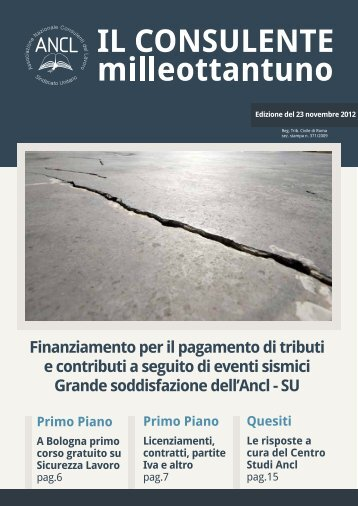Finanziamento per il pagamento di tributi e contributi a ... - Ancl