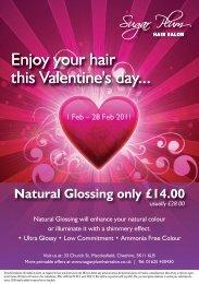 Natural Glossing only £14.00 - Sugar Plum Hair Salon