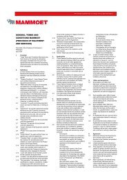 general terms and conditions mammoet (provision of ... - Mammoet BV