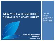 New York & Connecticut Sustainable Communities