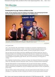 Förderspritze für junge Talente mit Musik im Blut