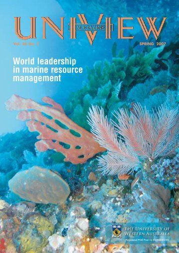 world leadership in marine resource management - Publications Unit