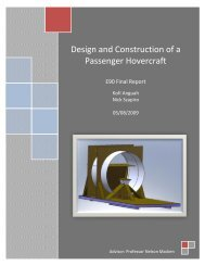Design and Construction of a Passenger Hovercraft