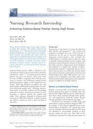 VANDERBILT EXPERIENCE: STUDENT NURSE INTERNSHIP