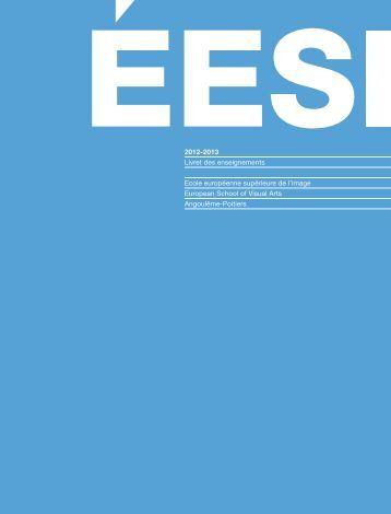 Télécharger le livret des enseignements 2012-2013 - École ...