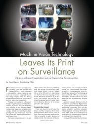 Machine Vision Technology Leaves Its Print on Surveillance - Matrox