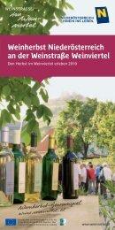 Weinherbst Niederösterreich an der Weinstraße Weinviertel