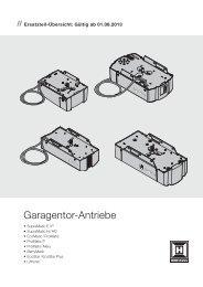 Garagentor-Antriebe - Hörmann KG