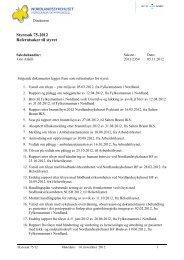 Styresak 75-2012 Referatsaker til styret - Nordlandssykehuset