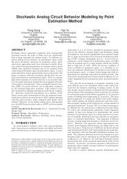Stochastic Analog Circuit Behavior Modeling by Point Estimation ...