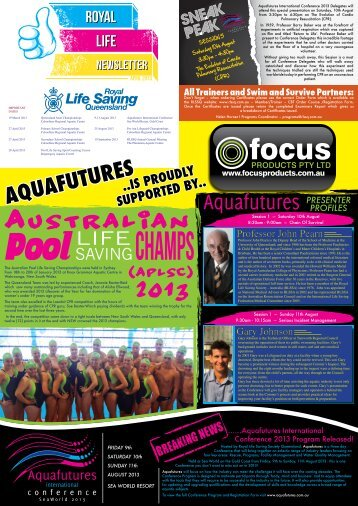 RLSSQ Newsletter April 2013.pdf - Royal Life Saving Society of ...