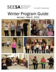 Winter Program Guide - seesa