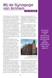 Bij de Synagoge van Arnhem - Kerk en Israël