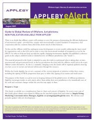 Guide on Global Review of Offshore Jurisdictions August ... - Appleby