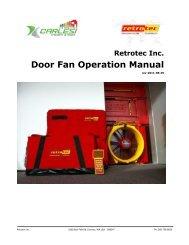 Energy Door Fan Manual - Carlesi strumenti