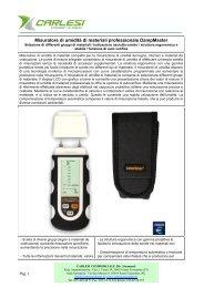 Misuratore di umidità di materiali professionale ... - Carlesi strumenti