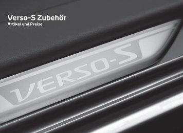Verso-S Zubehör - Toyota