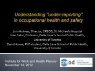 "Understanding ""under-reporting"" in occupational health and safety"