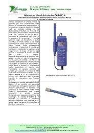 Misuratori di umidità CAR-313 A. - Carlesi strumenti