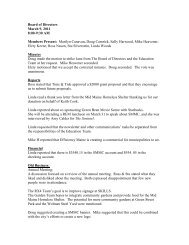 Board of Directors minutes 3-9-11 - City of Waterville