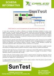 Il KIT SunTest è un kit di espansione del ... - Carlesi strumenti