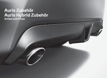 Auris Zubehör Auris Hybrid Zubehör - Toyota