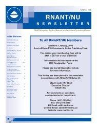 106176 Spring 2007 Issue - Registered Nurses Association of the ...